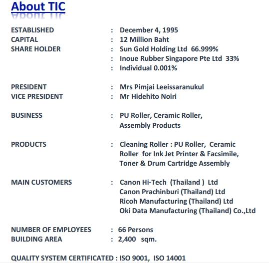 Thai Inoac Components CO ,LTD